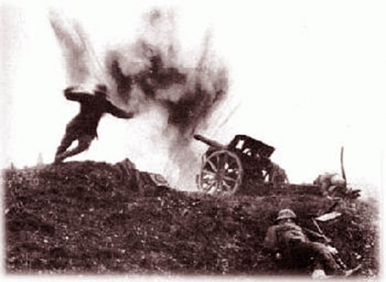 The U.S. Army  Assault on November 11, 1918  <br />(The Stars and Stripes, 1918)