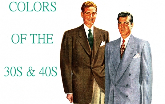 The Colors in Men's Suits 1935 - 1950 <br />(Men's Wear, 1950)