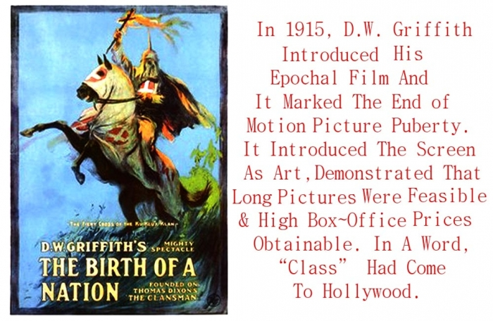 a comparison of film the birth of nation and 1915 film The development of the war in their lives plays through to lincoln's assassination and the birth of the ku klux klan imdb the birth of a nation (1915.