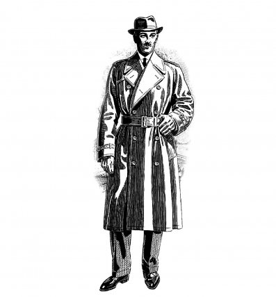 One of the First Trench Coats for U.S. Civilians <br />(Magazine Ad, 1917)
