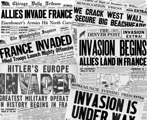 D-Day On The Home Front <br />(Newsweek Magazine, 1944)