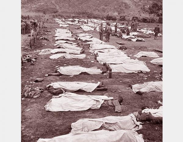 Burying The American Dead <br />(Newsweek Magazine, 1944)