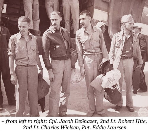 Three Doolittle Raiders Released from Captivity <br />(Newsweek Magazine, 1945)