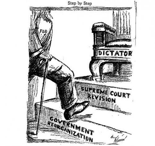 Justice Charles Evans Hughes <br />(Pathfinder Magazine, 1937)