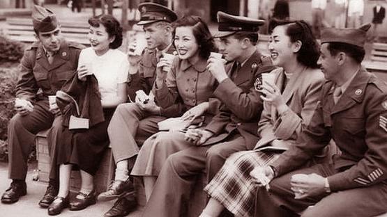 GI Joe and the Women of Japan... <br />(Pic Magazine, 1952)