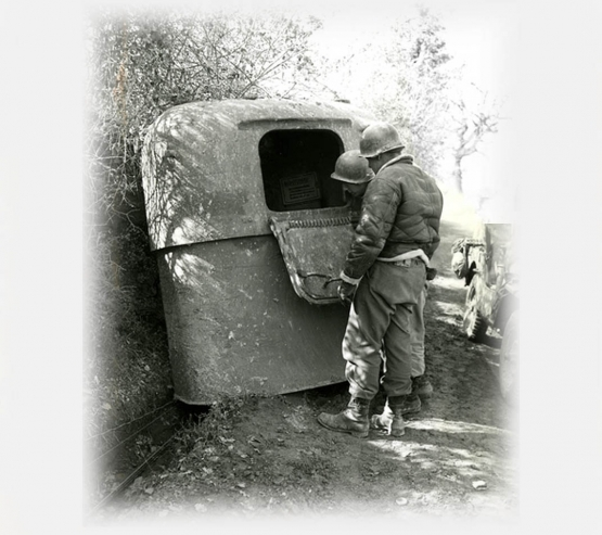 The German Portable Pillbox <br />(Yank Magazine, 1944)
