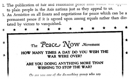 A Failed Peace Movement <br />(Newsweek Magazine, 1944)