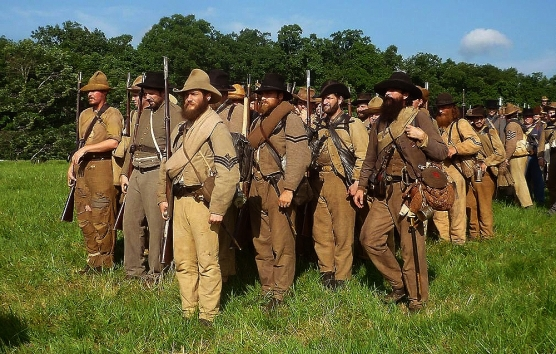 With the First Texas Regiment at Gettysburg <br />(Confederate Veteran, 1922)