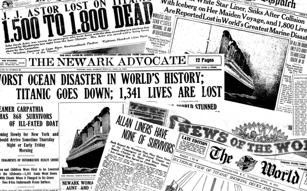 Titanic News Report Sketchy News Reports On The Matter Of