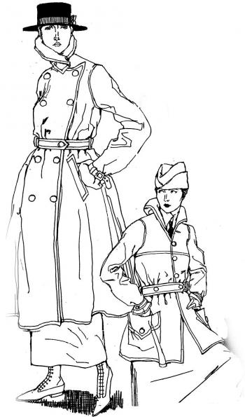 Uniformed American Women in World War I France <br />(Harper's Bazaar, 1918)