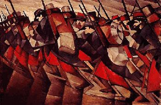 C.R.W. Nevinson: Futurist on the Front <br />(The Great War, 1918)