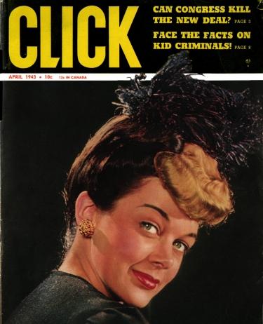 The Pin-On Hairdo: White Trash Triumph <br />(Click Mahazine, 1943)