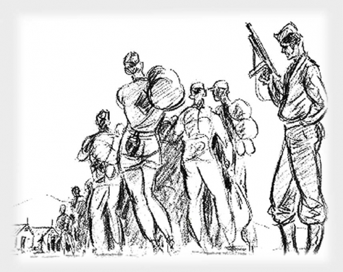 Drawings of German POWs in America <br />(Click Magazine, 1943)