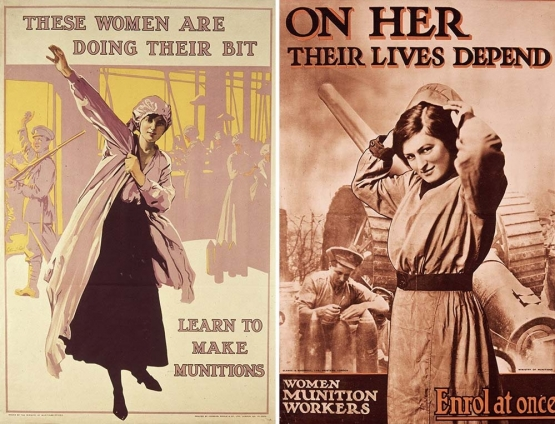 W.W. I and British Women <br />(Collier's Magazine, 1916)