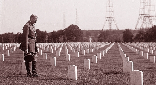 General Pershing On The W.W. I Cemeteries & Monuments of Europe <br />(American Legion Monthly 1927)