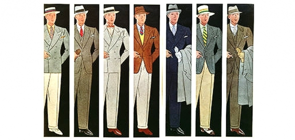 WW2 COLOR TRENDS FOR MEN'S SUITS,30S AND 40S FASHION COLOR TRENDS IN