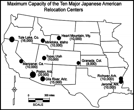 Archived Japanese American Internment Newspaper Articles - Map-of-japanese-internment-camps-in-us