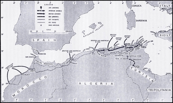 Allied Efforts in North Africa <br />(PM Tabloid, 1943)