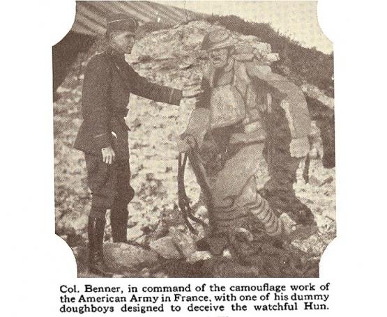 Papier-Mache Used to Deceive German Snipers <br />(Popular Mechanics, 1917)