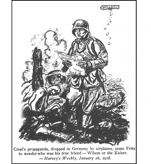 U.S. Propaganda Pamphlets Dropped on the Hun <br />(The Stars and Stripes, 1919)