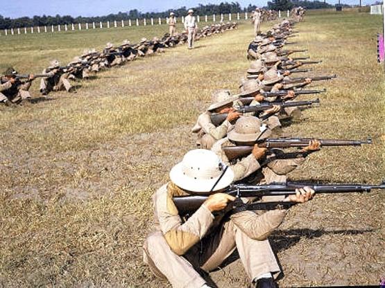 Training Marines in San Diego <br />(Leatherneck Magazine, 1943)