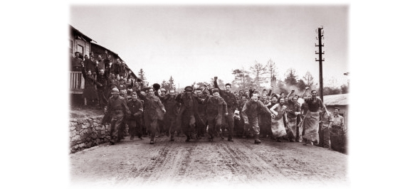 Wounded POWs Liberated in Germany <br />(Yank Magazine, 1945)