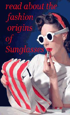 1930s sunglasses origin