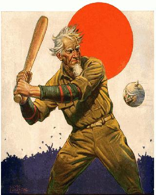 Baseball as Metaphor for War <br />(The Stars and Stripes, 1918)