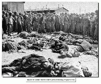 Captured American Jews Found at Ohrdruf-Concentration-Camp