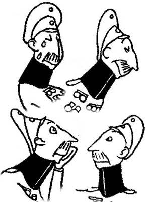 Crown Prince Wilhelm Cartoon  <br />(Life Magazine, 1919)