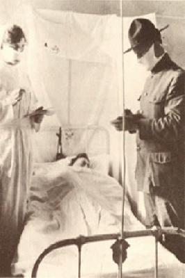 Gauze Masks Used to Fight Influenza <br />(The Stars and Stripes, 1918)