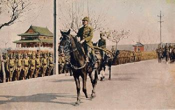 Japanese Infantry on Parade in Nanking