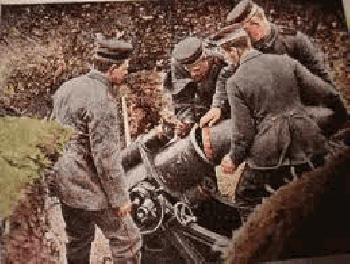 German Howitzers <br />(Popular Mechanics, 1914)