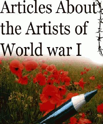 WW1 artist articles