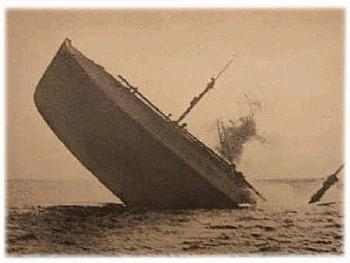 TUSCANIA Torpedoed   <br />(The Stars and Stripes, 1919)