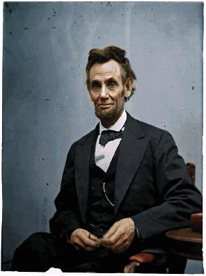 abe incoln in color
