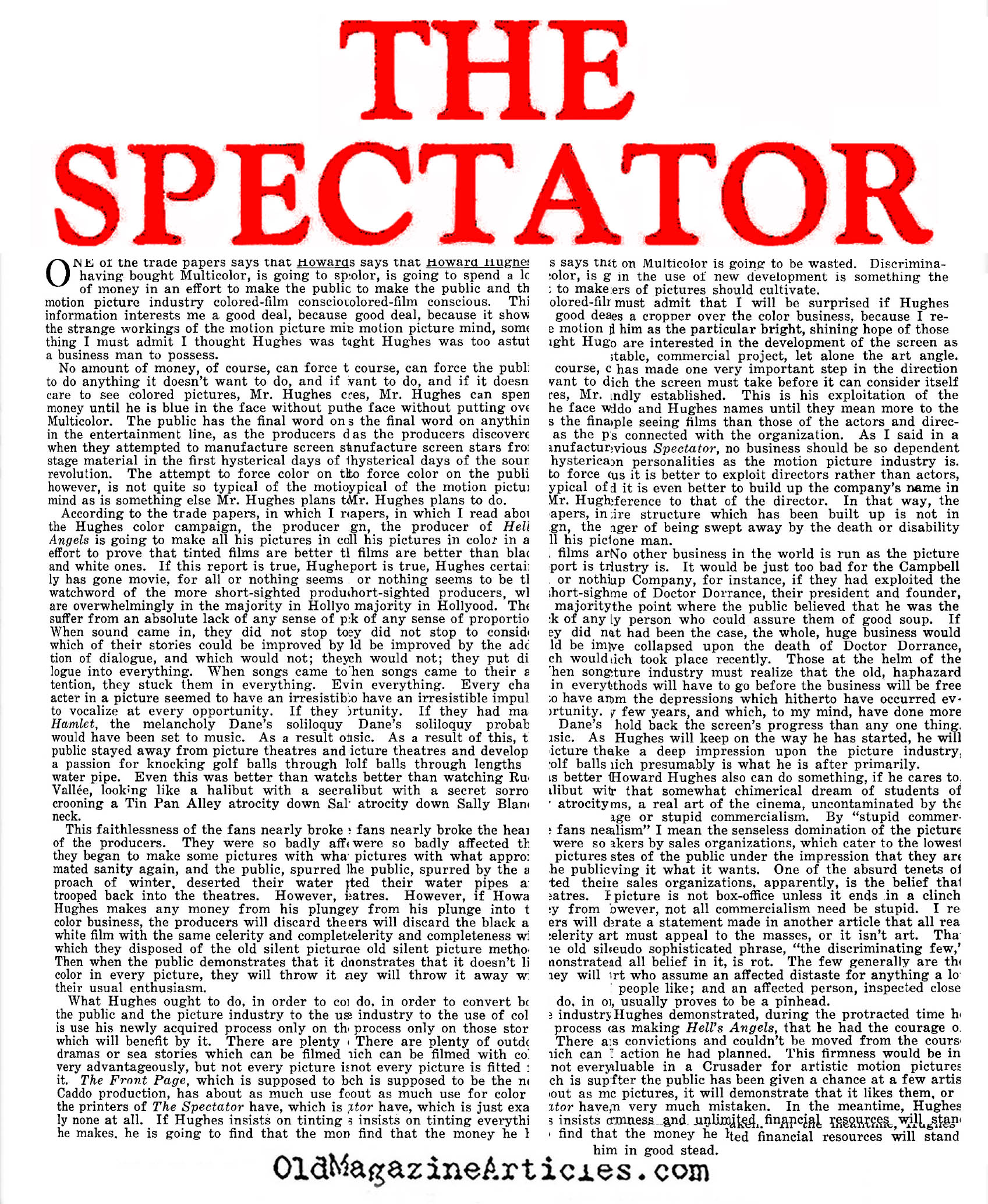 The Spectator Articles