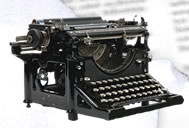 old magazine article typewriter