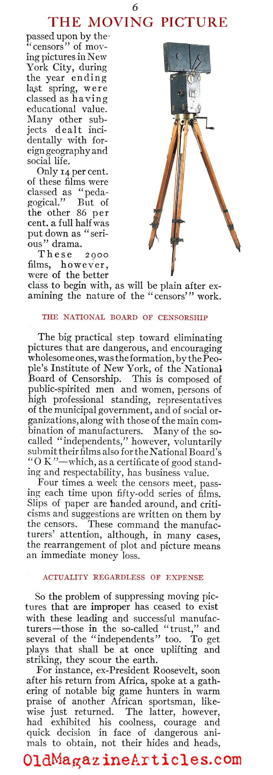 1910 and The Growing Popularity of the ''Flickers'' (Review of Reviews, 1910)