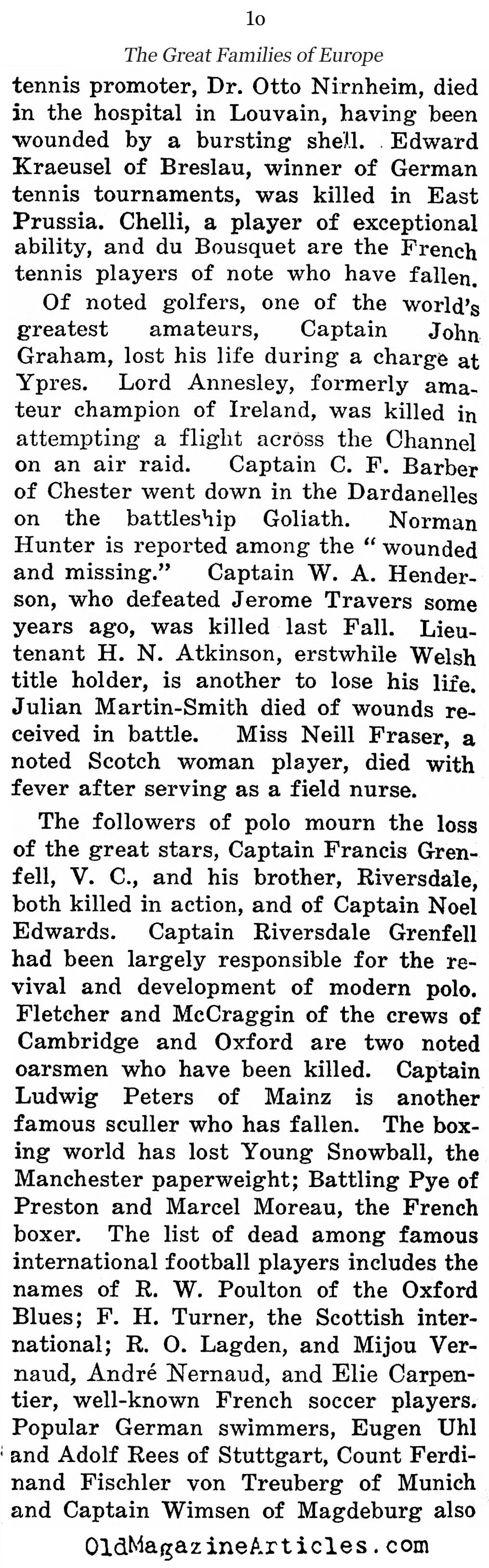 The Slaughter of the Aristocrats (NY Times, 1915)