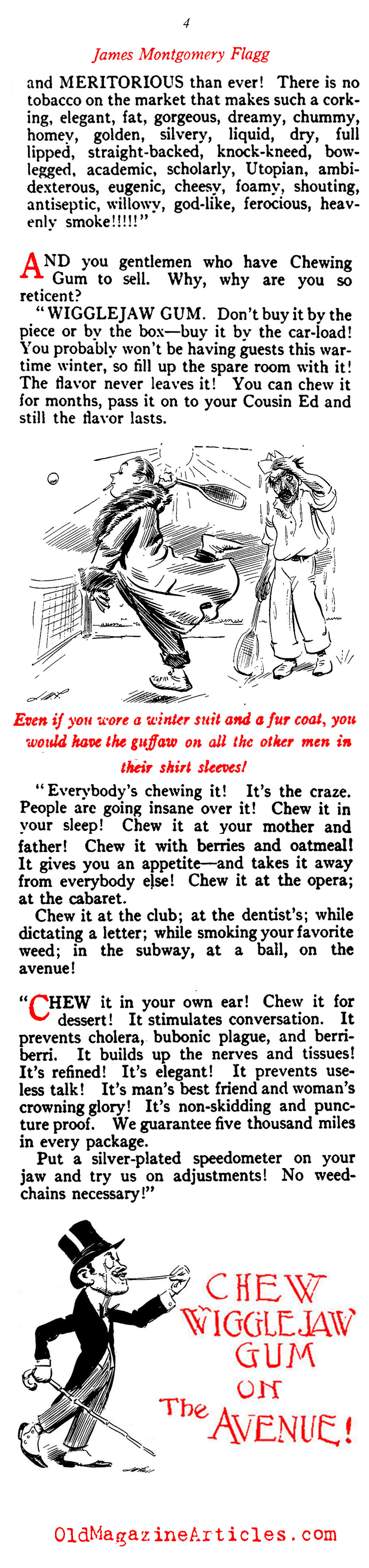Mocking Ad Practices in the Early 20th Century (Vanity Fair Magazine, 1914)