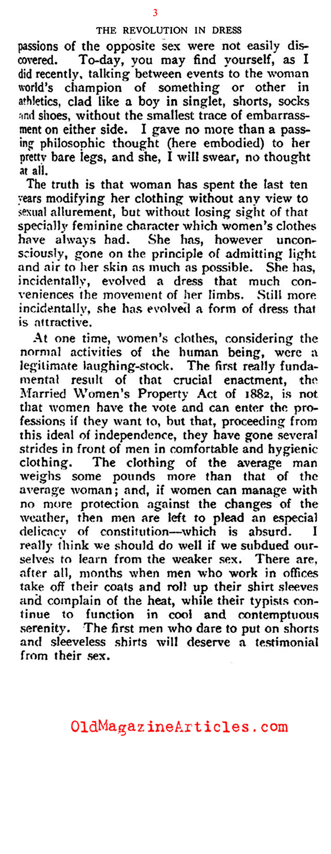 The Revolution in 1920s Fashion (Saturday Review of Literature, 1925)