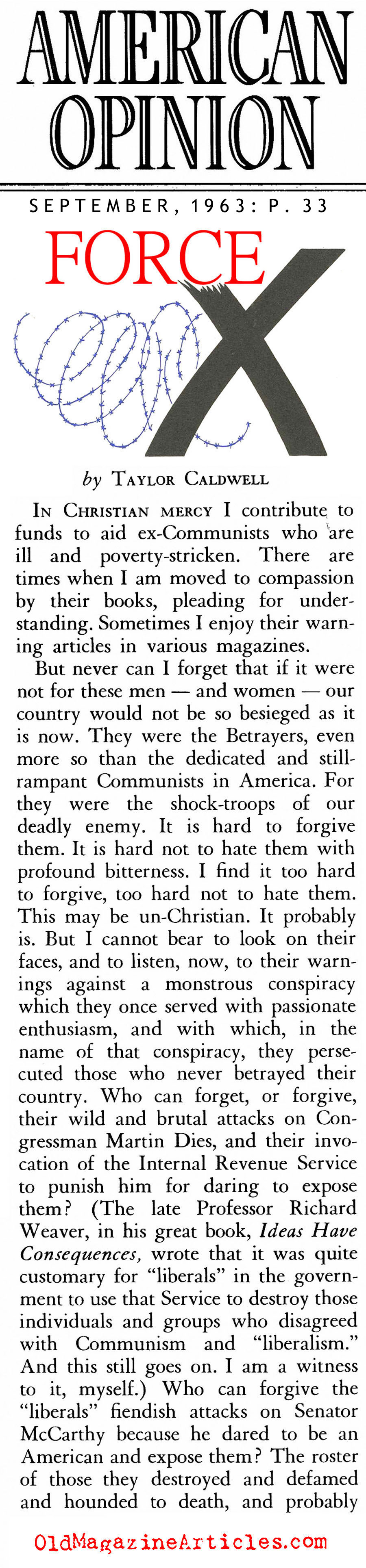 Rejecting Socialism During the Depression (American Opinion, 1963)
