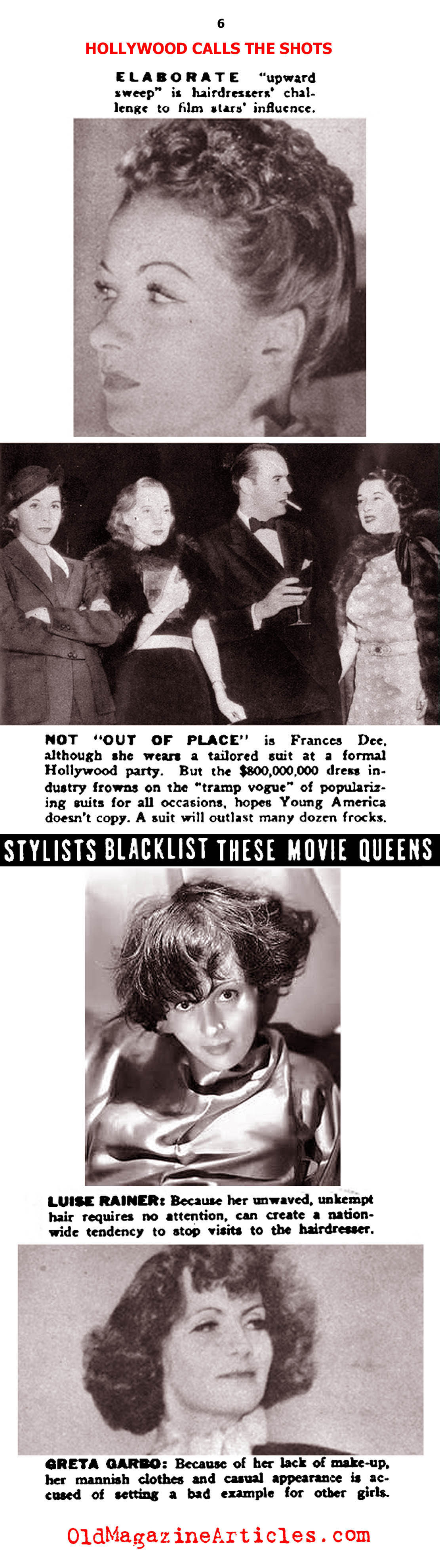 Hollywood Stylists vs the Fashion Industry (Click Magazine, 1938)