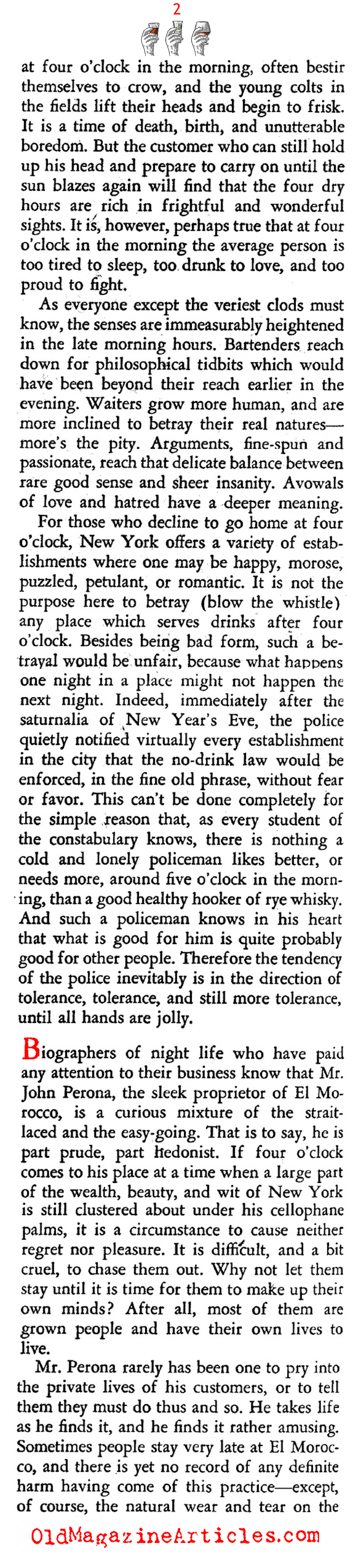New York City Bars at Four in the Morning... (Stage Magazine, 1937)