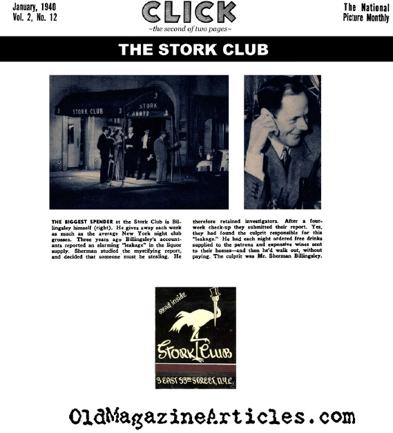 The Stork Club (Click Magazine, 1940)