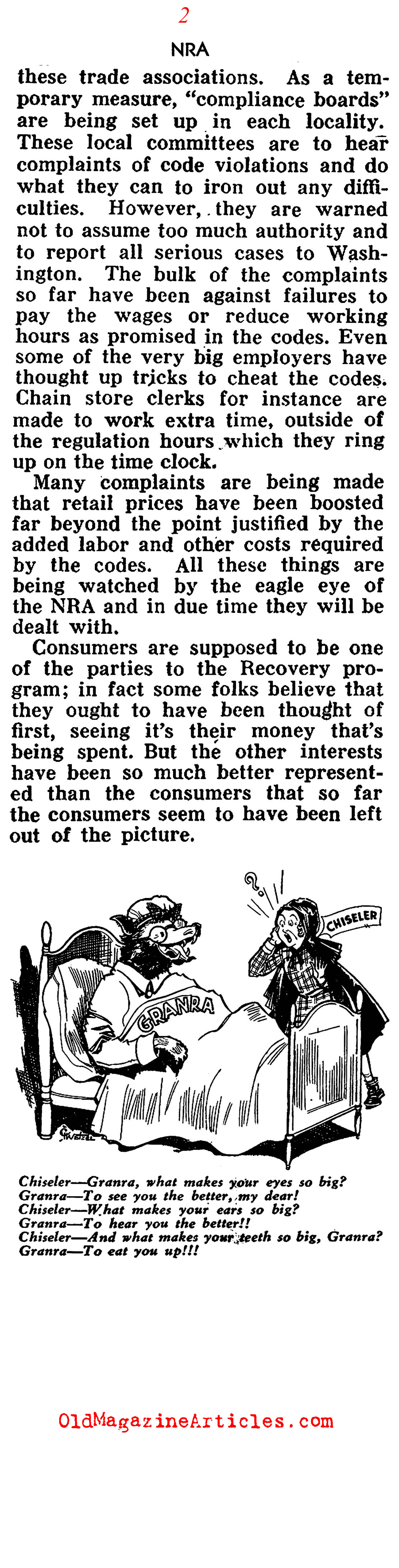 The NRA Shows Its Teeth (Pathfinder Magazine, 1933)
