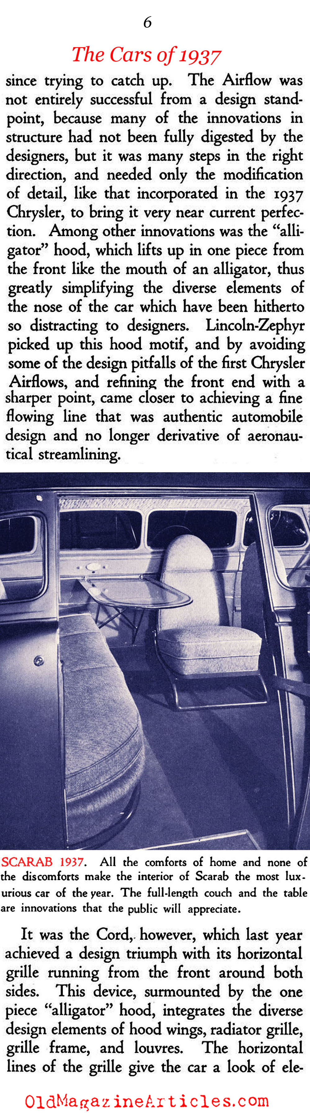 The Streamlining of Cars (Creative Art Magazine, 1936)