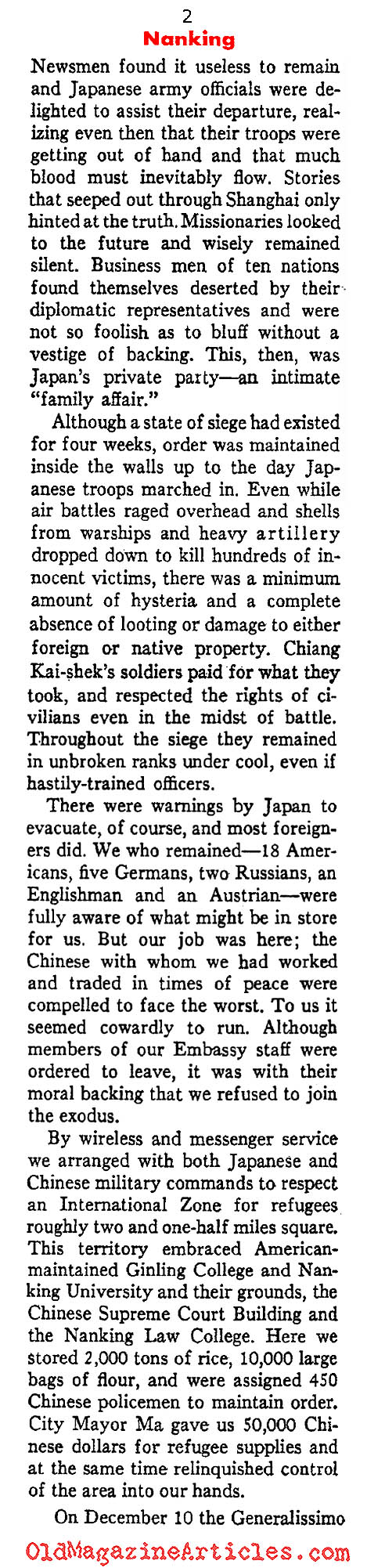 Nanking Sacked (Ken Magazine, 1938)