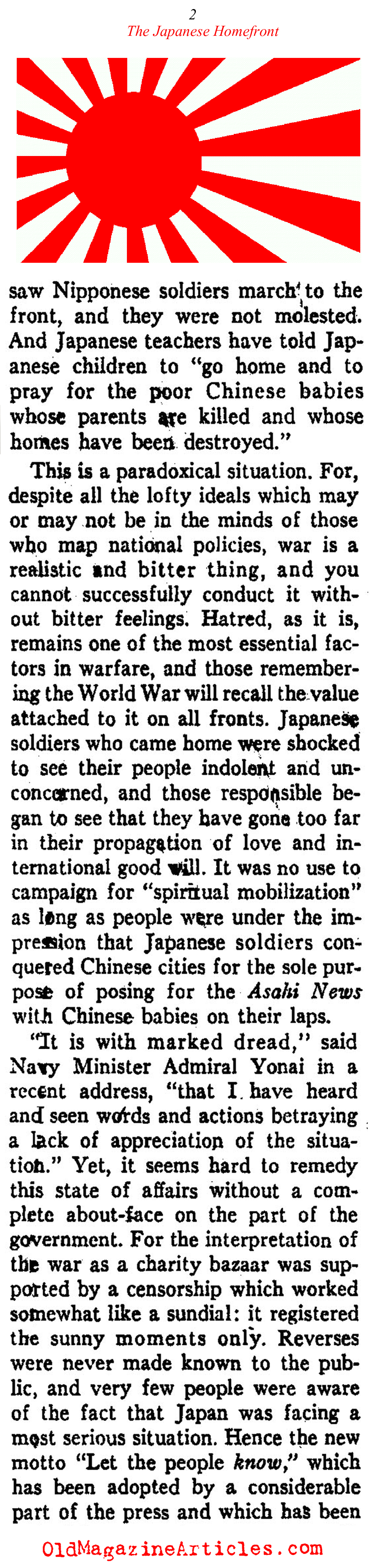 The Japanese Homefront (Ken Magazine, 1938)